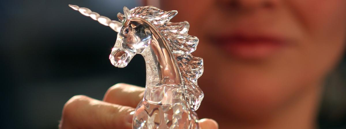 Swarovski woman with unicorn